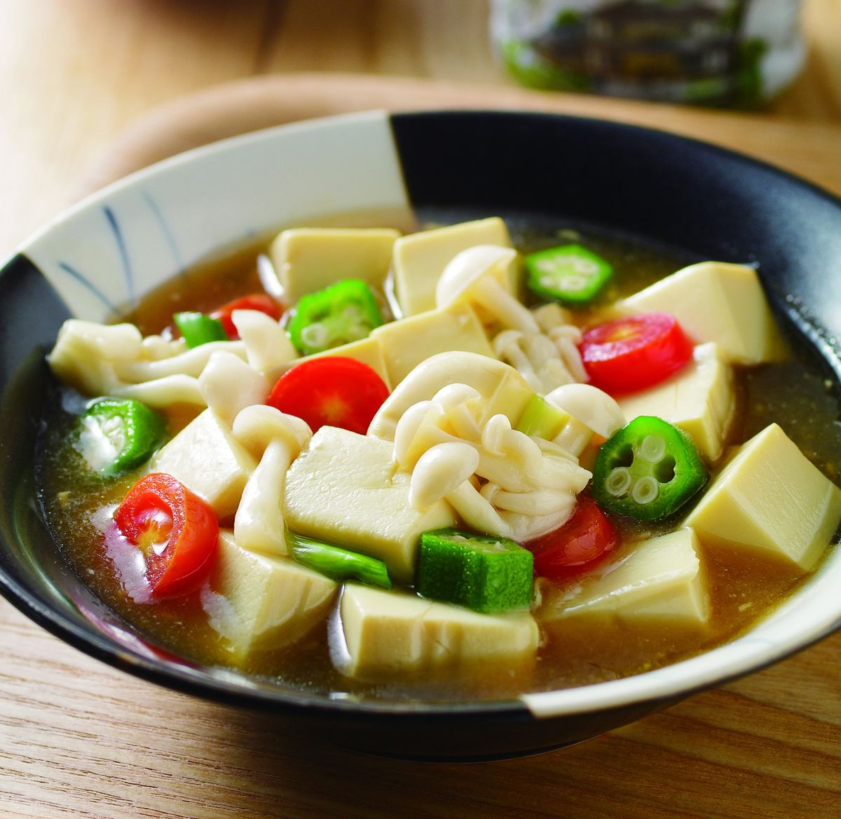 食譜:雪白菇燴蛋豆腐(1)