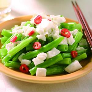鹹蛋白炒四季豆