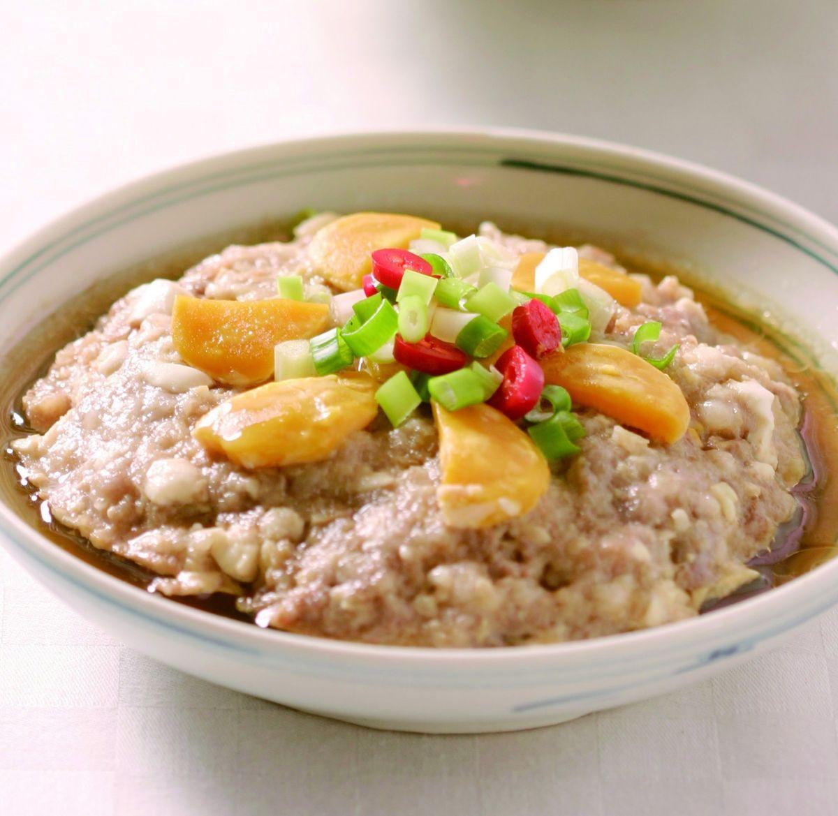食譜:鹹蛋蒸肉餅(4)
