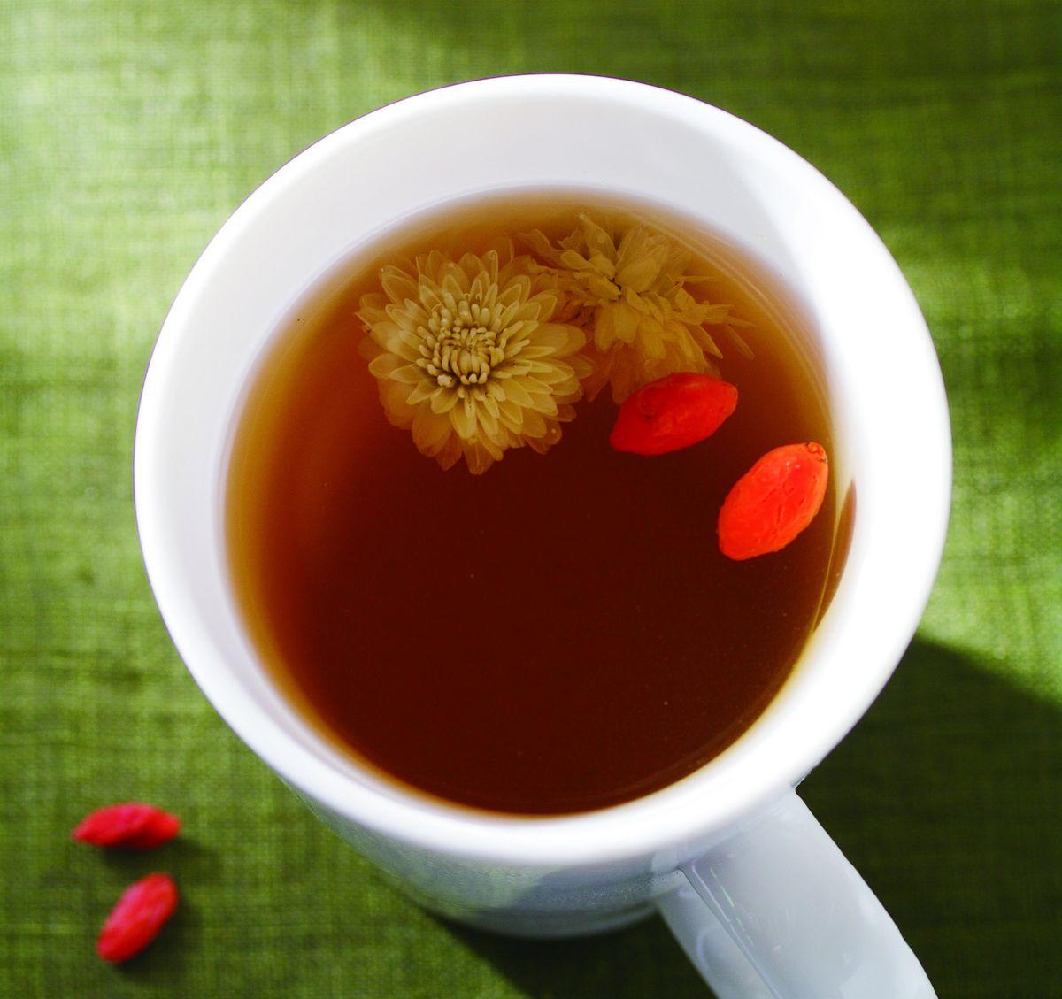 食譜:菊花枸杞茶(1)
