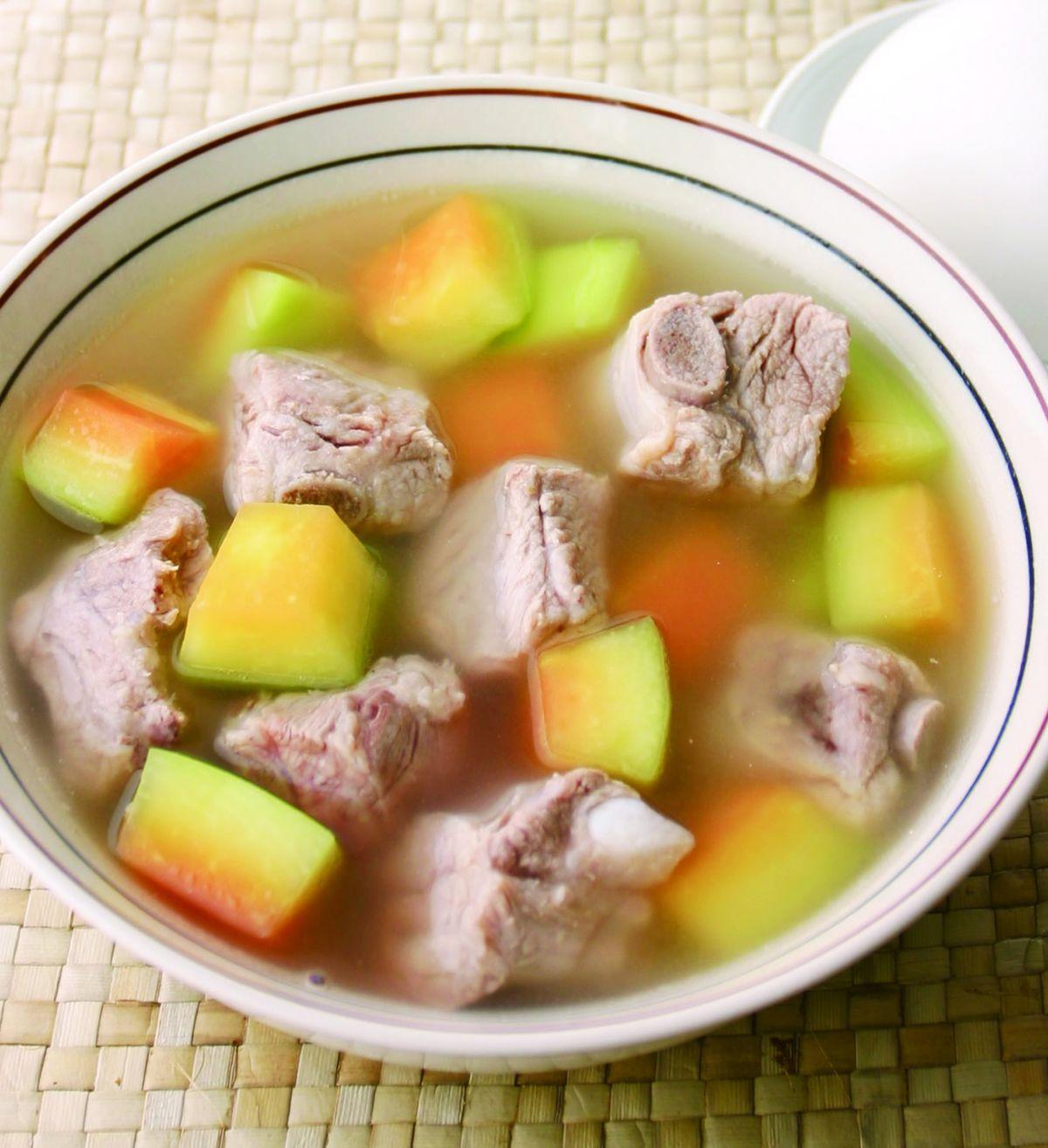 食譜:青木瓜燉排骨湯
