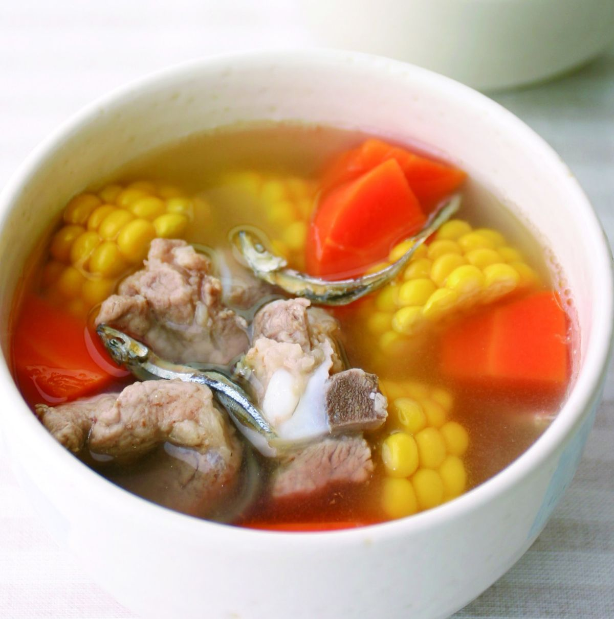 食譜:玉米魚乾排骨湯