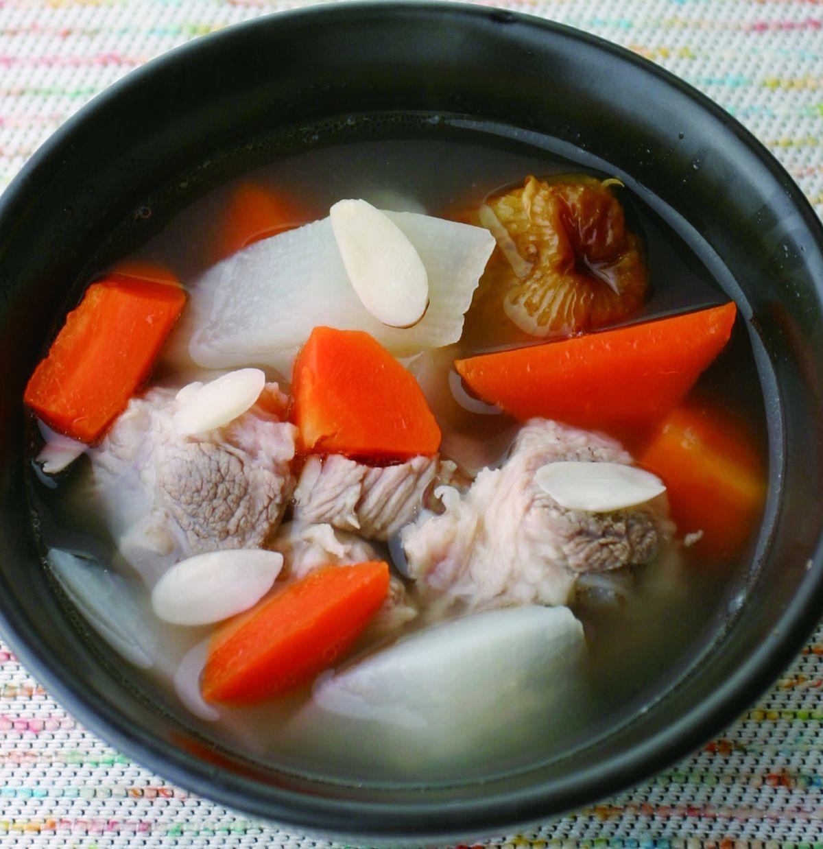 食譜:紅白蘿蔔肉骨湯