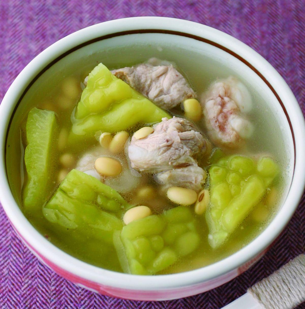 食譜:苦瓜黃豆排骨湯