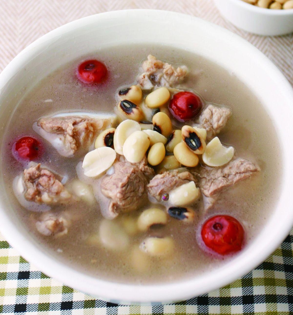 食譜:花生米豆排骨湯