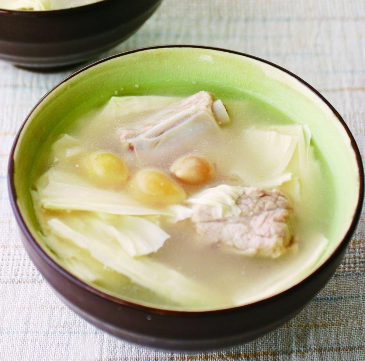 食譜:白果腐竹排骨湯
