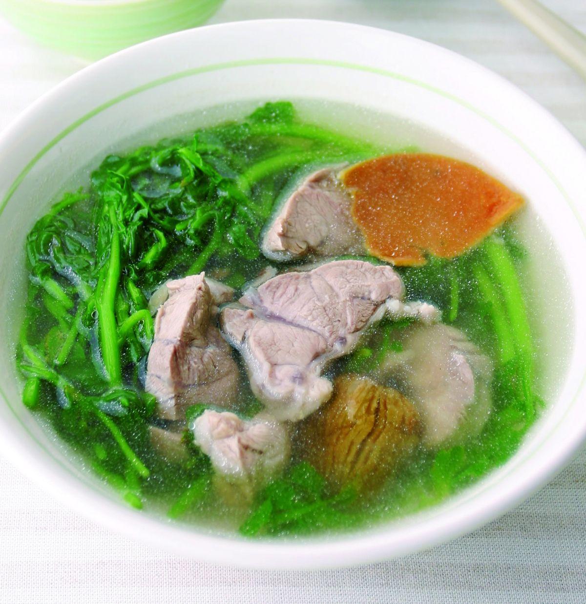 食譜:西洋菜瘦肉湯(1)
