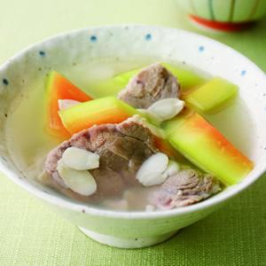 青木瓜杏片豬腱湯