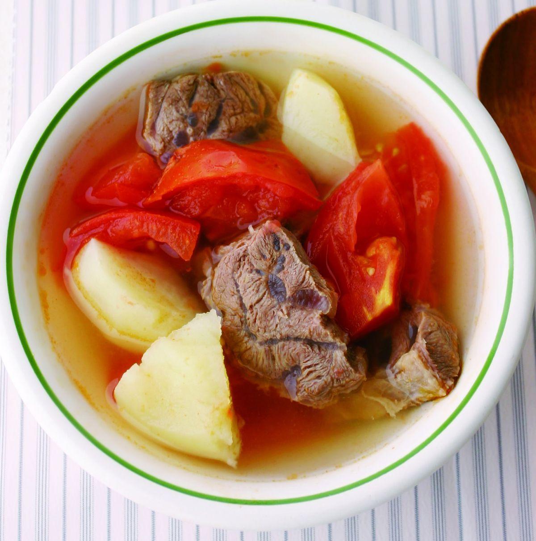 食譜:蕃茄馬鈴薯牛腱湯