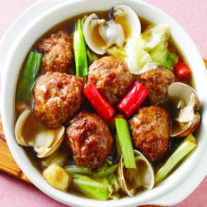 蛤蜊肉丸煲