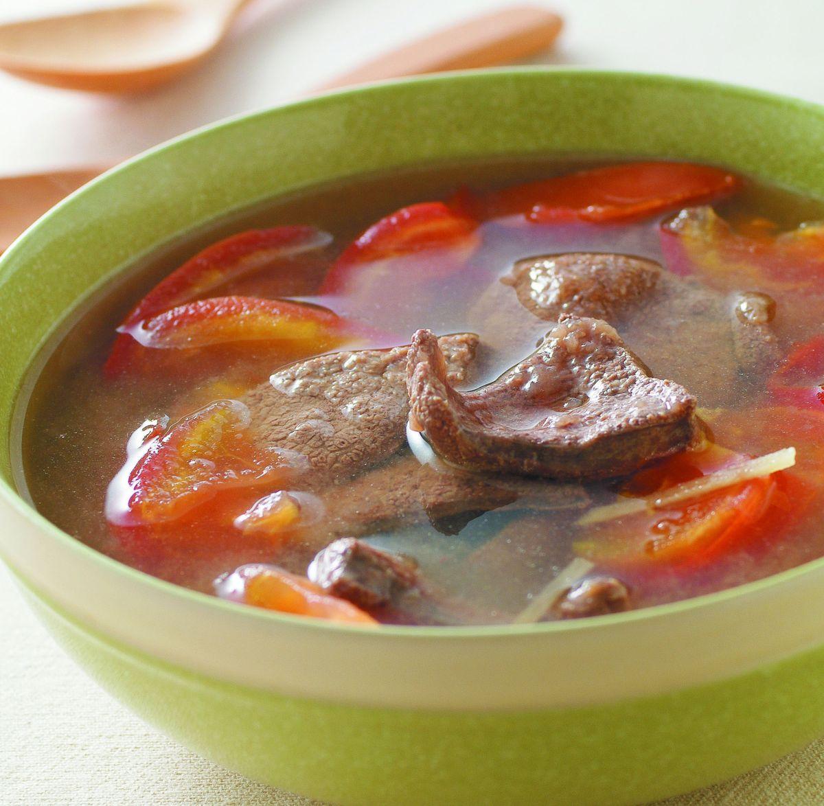 食譜:蕃茄豬肝湯