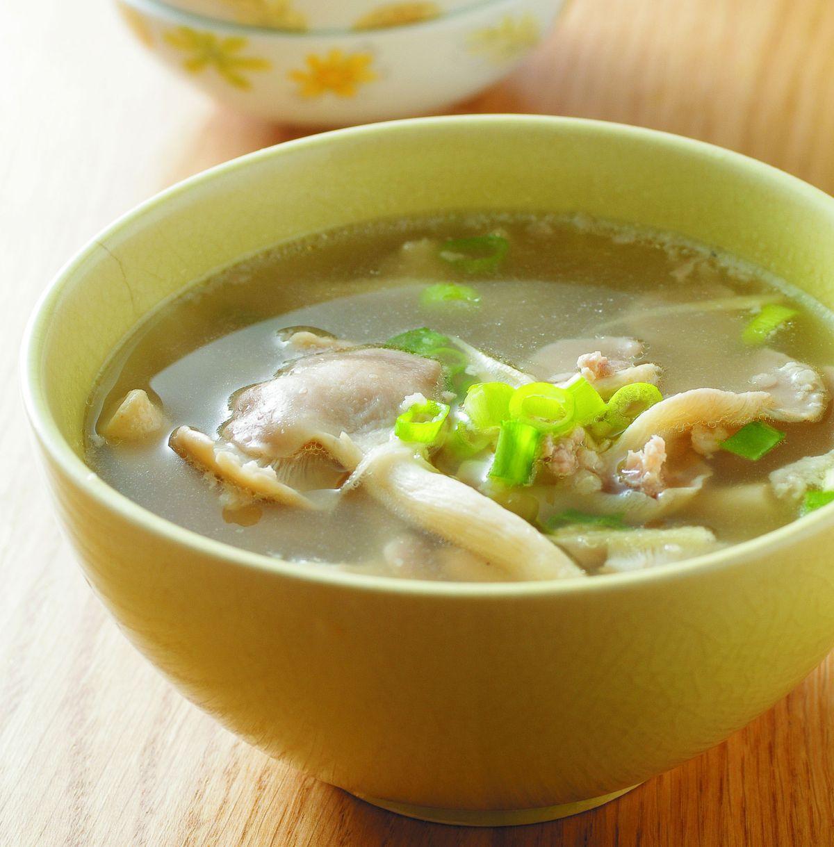 食譜:肉末鮮菇湯