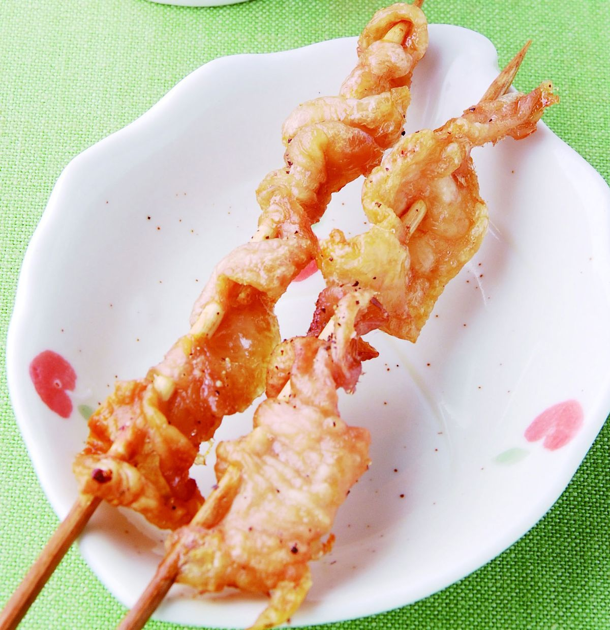 食譜:串烤雞皮