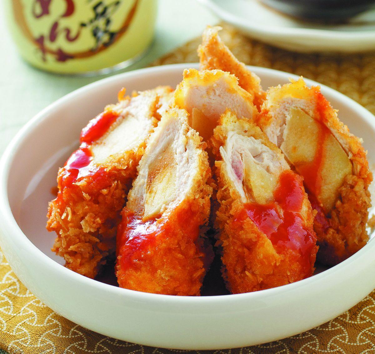 食譜:炸蘋果雞肉卷