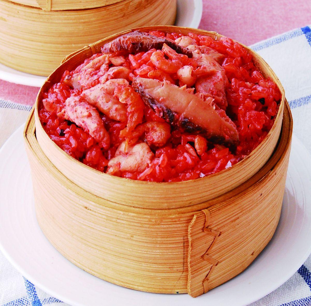 食譜:紅麴雞肉米糕