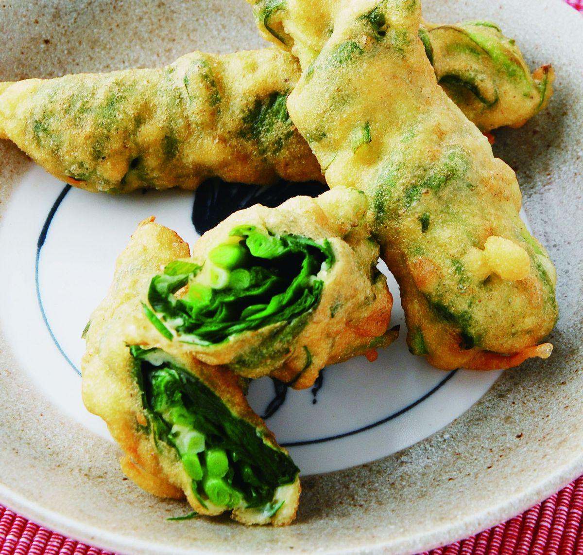 食譜:炸韭菜捲