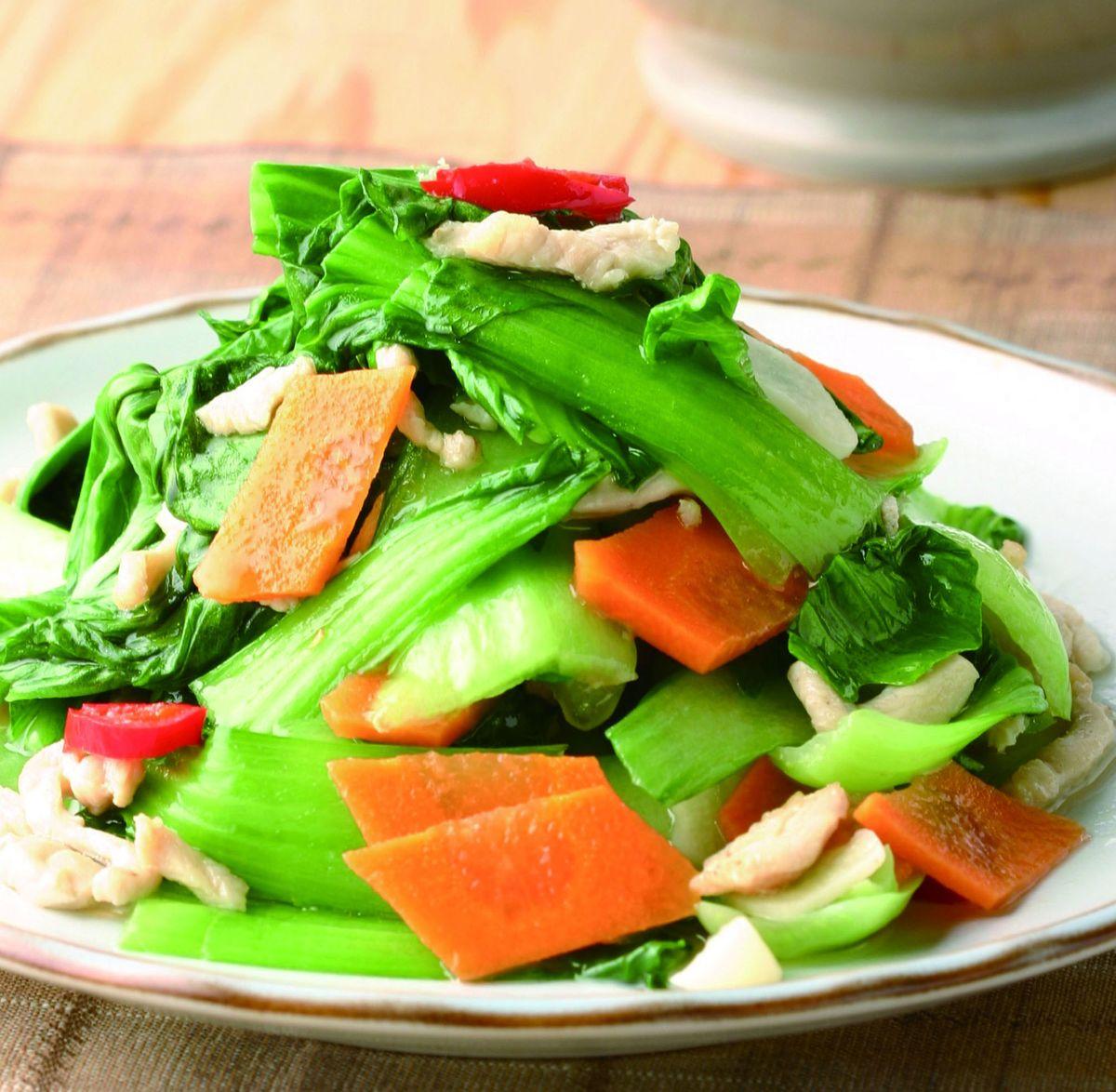 食譜:雞絲炒青江菜