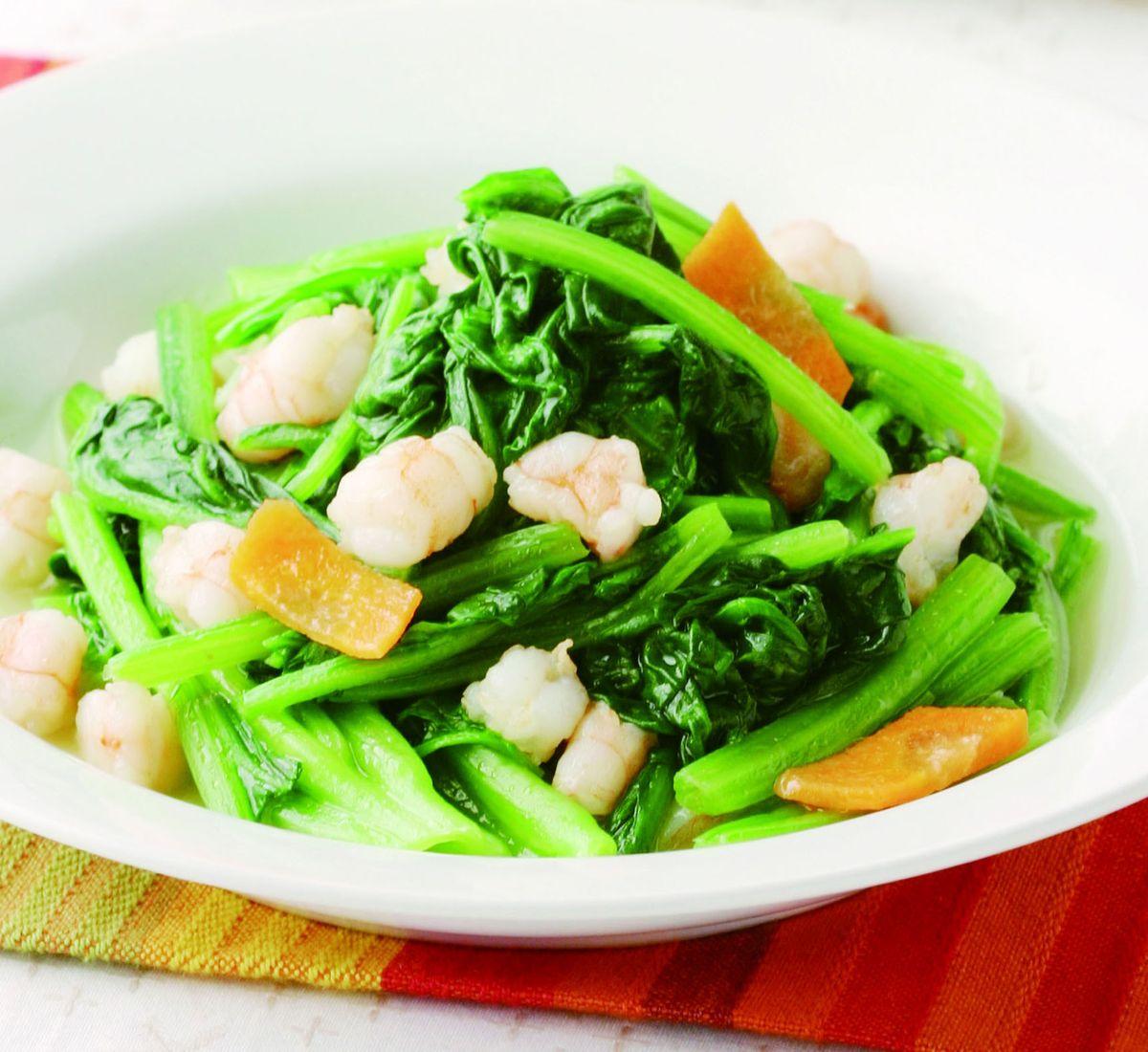 食譜:菠菜炒蝦仁