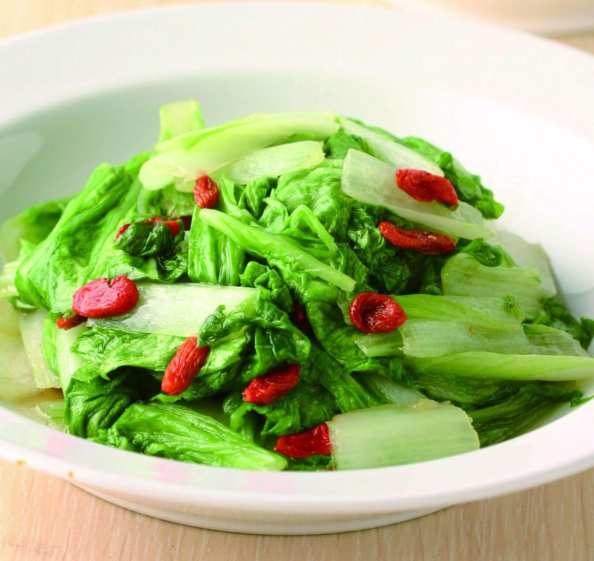 食譜:枸杞炒小白菜
