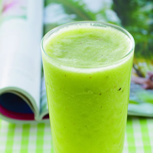 萵苣奇異果蔬果汁