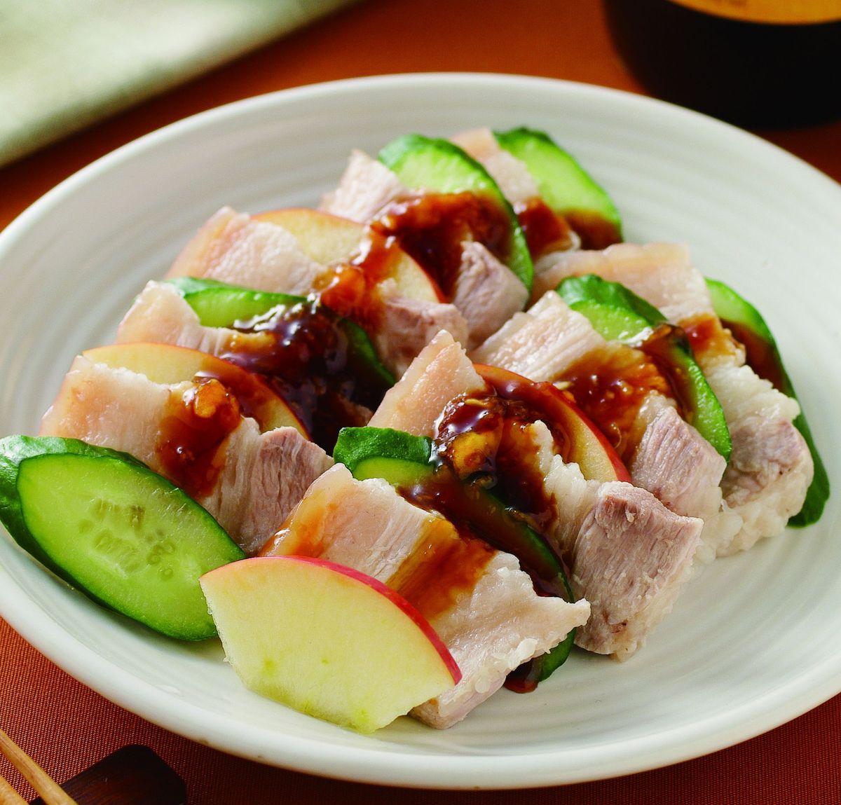 食譜:蘋果蒜泥肉片(1)