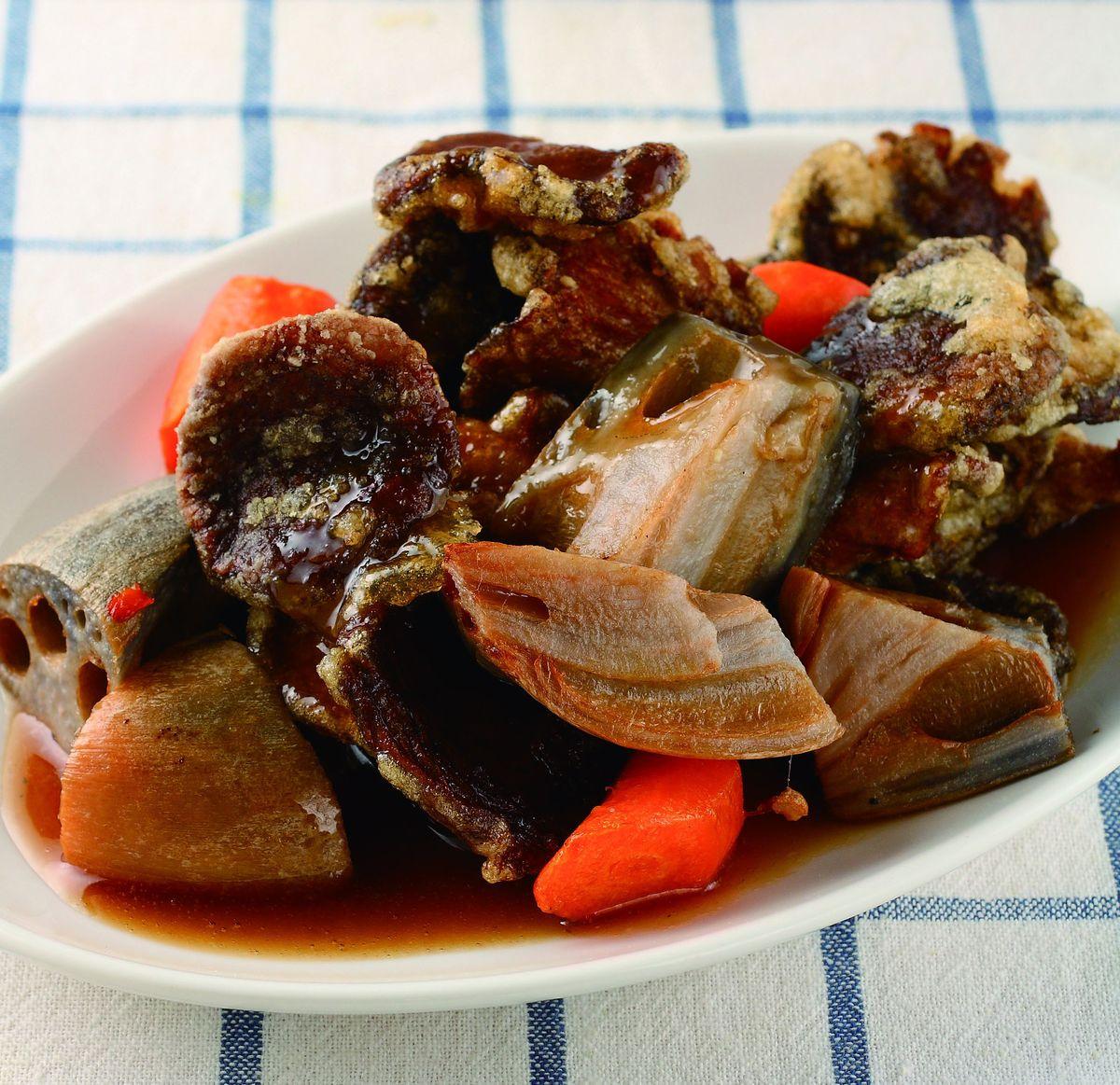 食譜:素菇蔬菜燴黑醋醬