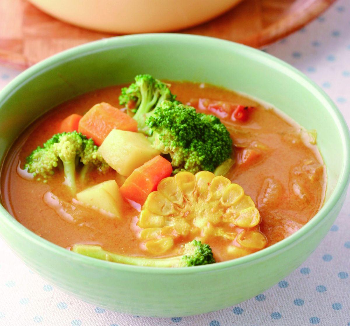 食譜:咖哩蔬菜湯(2)