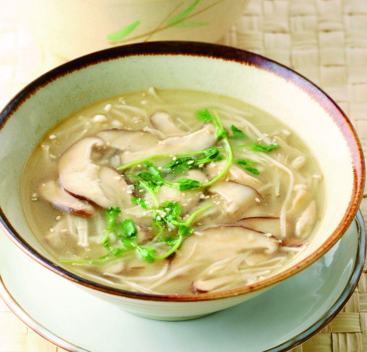 食譜:蕈菇湯