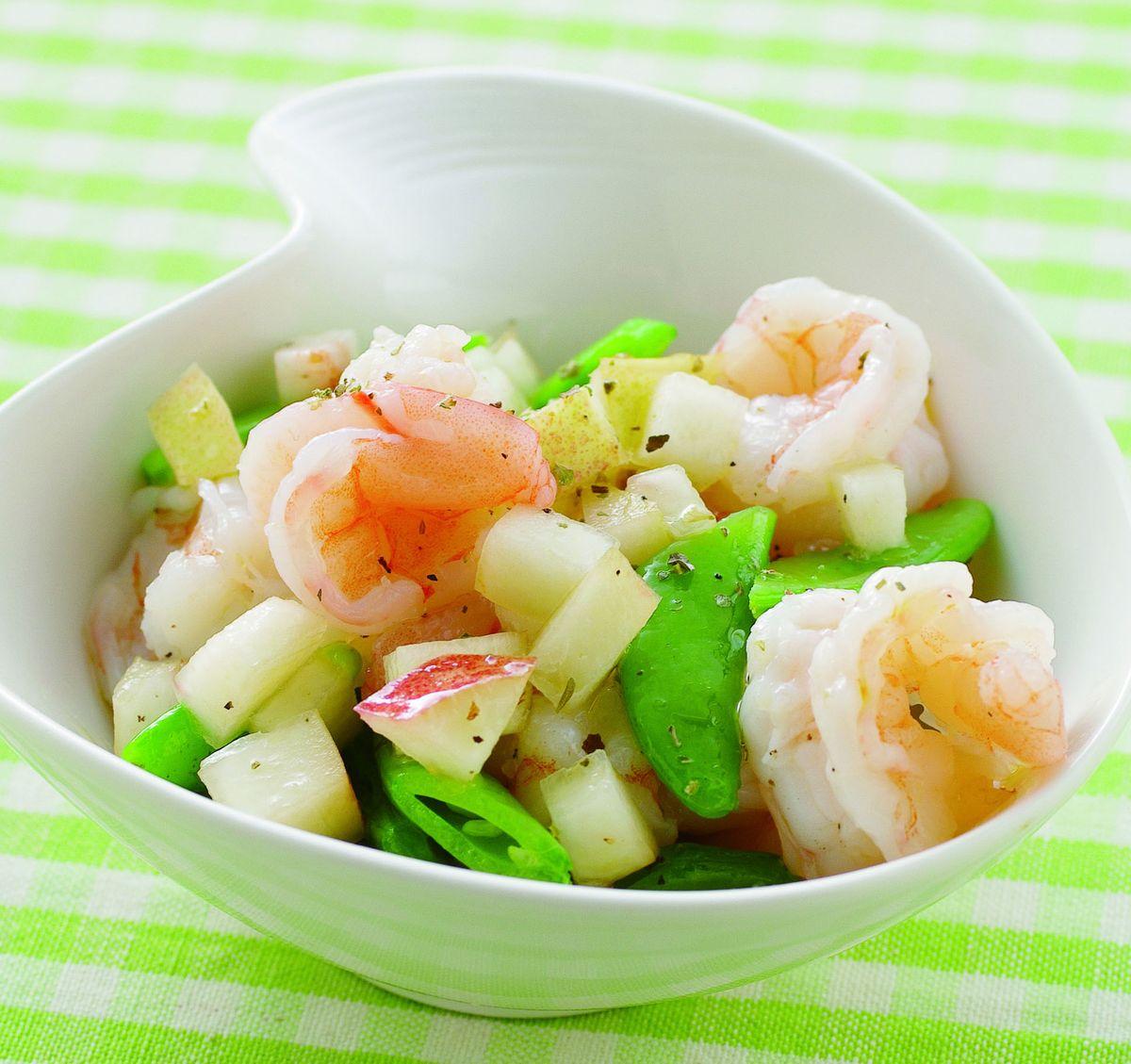 食譜:甜桃鮮蝦沙拉