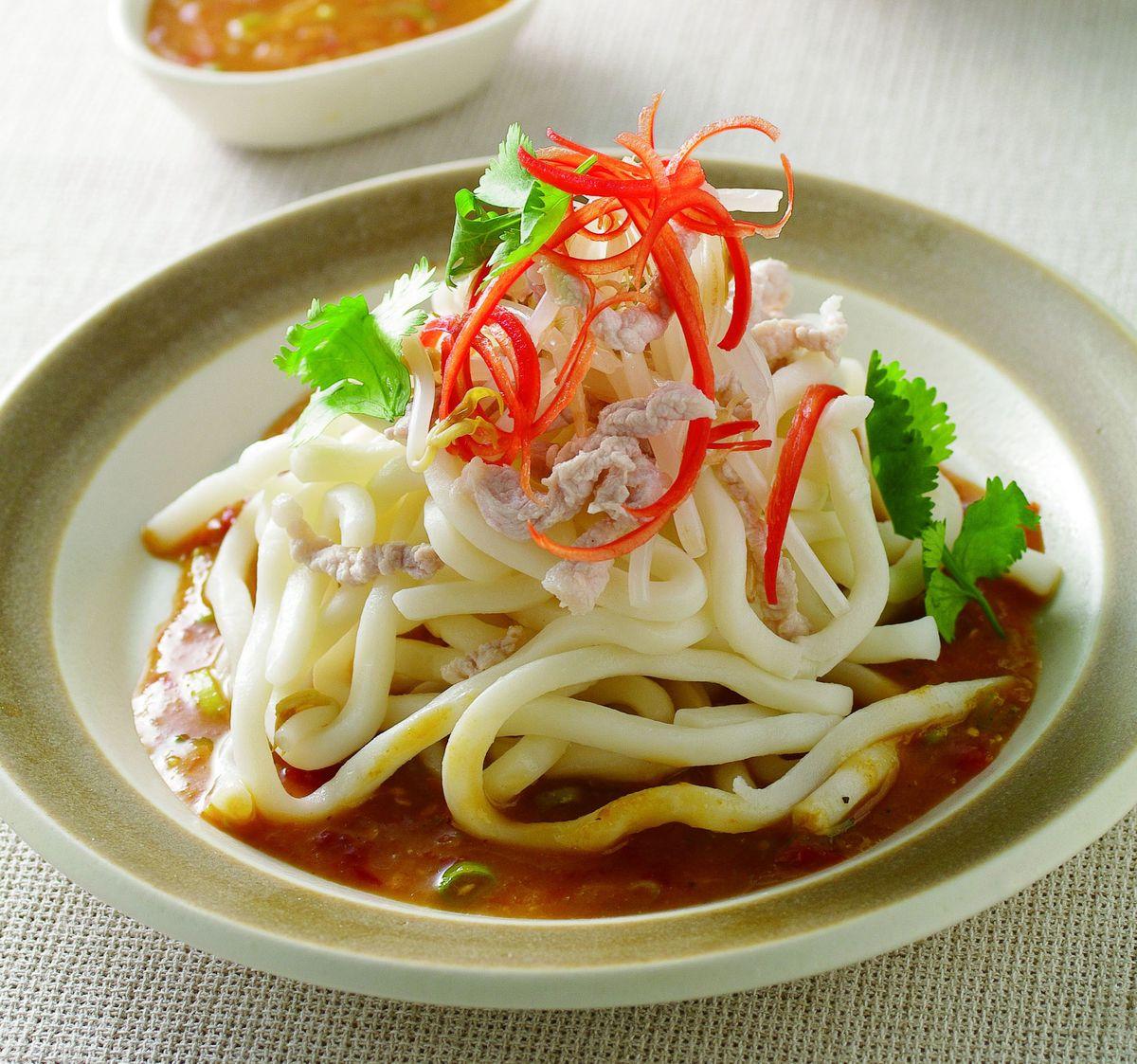 食譜:辣桔醬烏龍麵