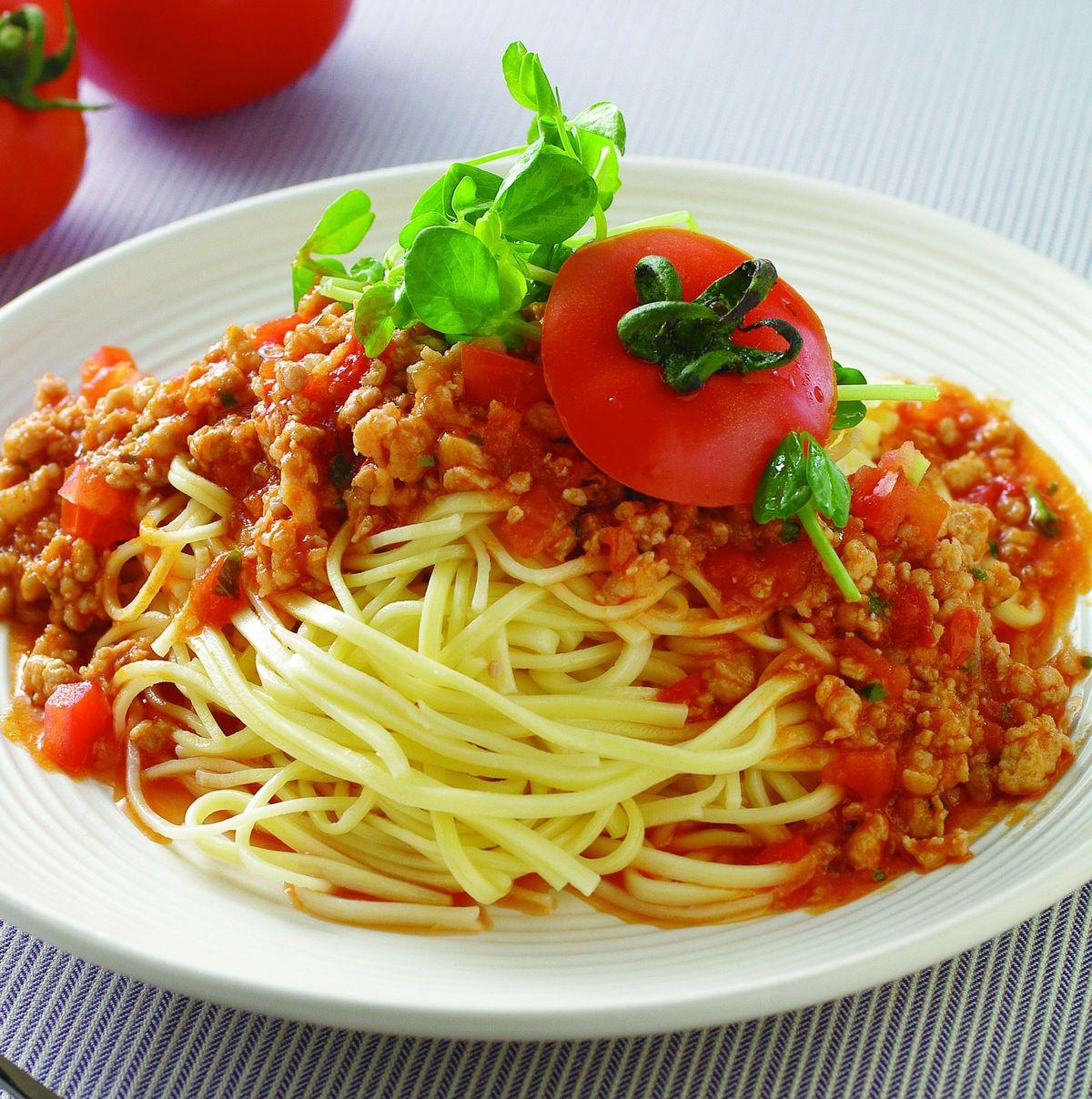 食譜:蕃茄肉醬涼麵