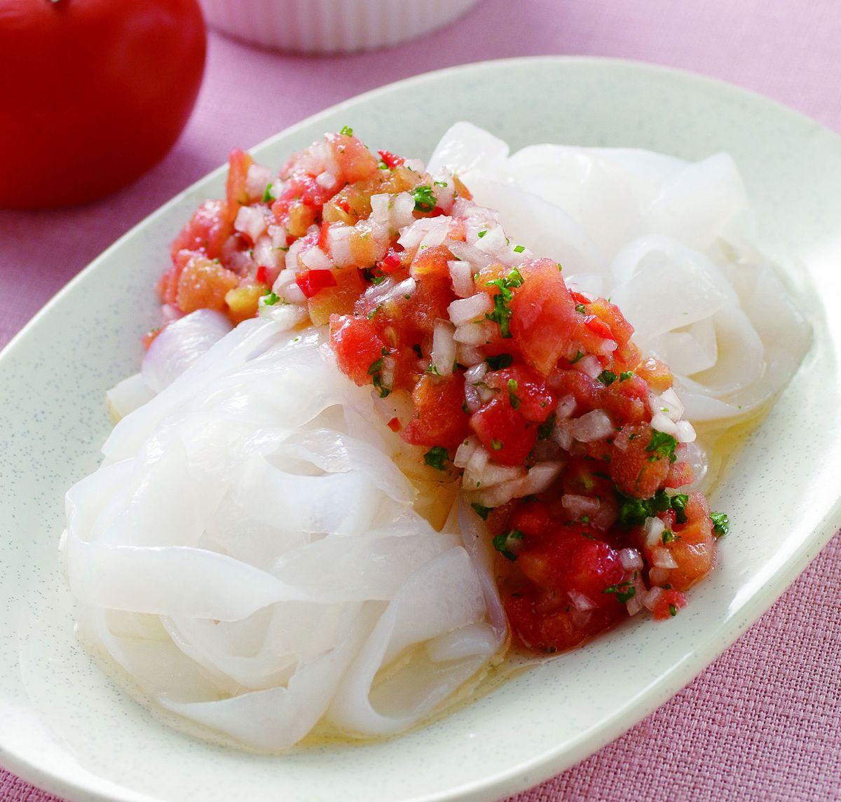 食譜:蕃茄沙沙醬涼麵