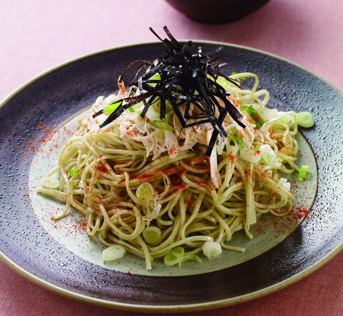 食譜:日式綠茶雞絲涼麵