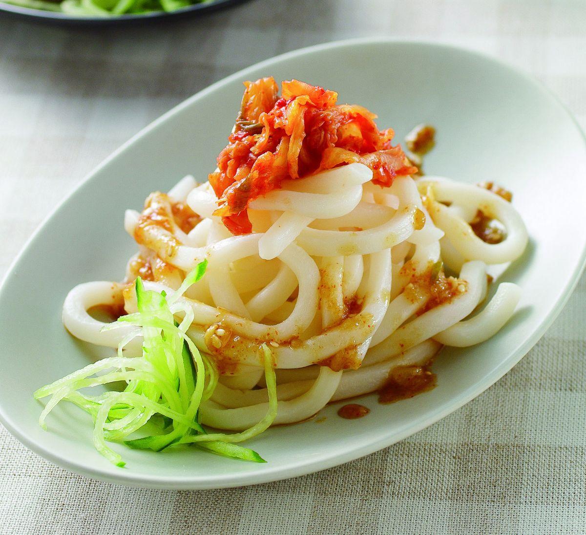 食譜:辣梨醬拌烏龍麵