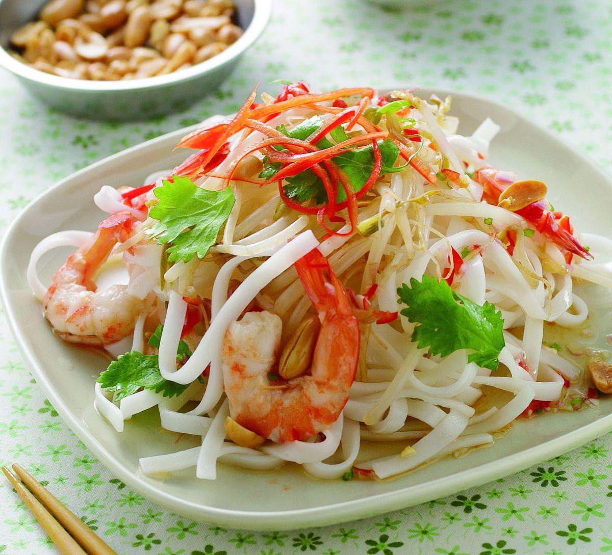 食譜:南洋醋汁鮮蝦涼麵
