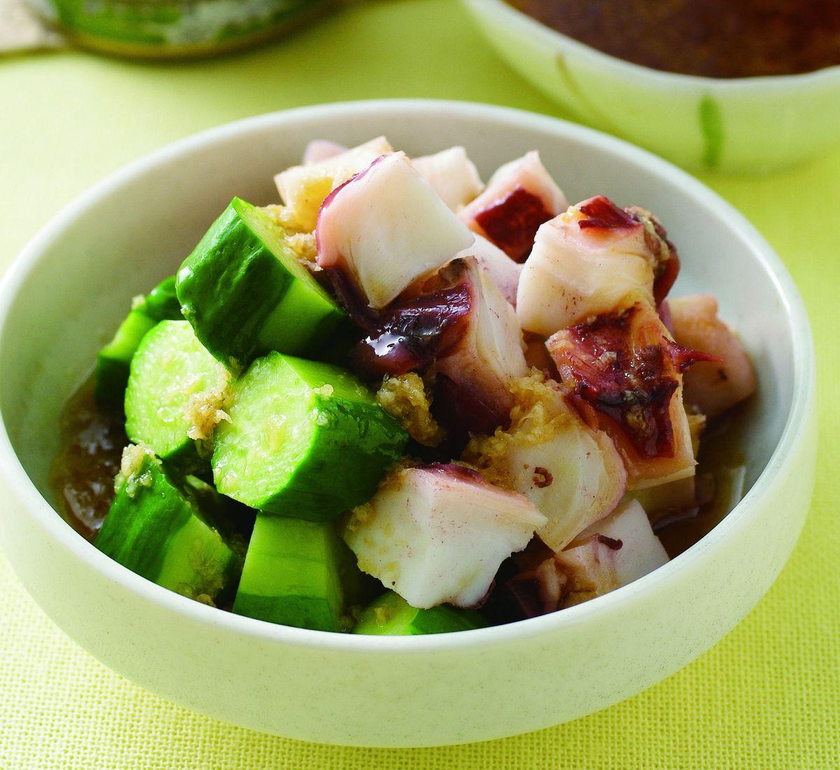 食譜:薑汁和露淋章魚(1)