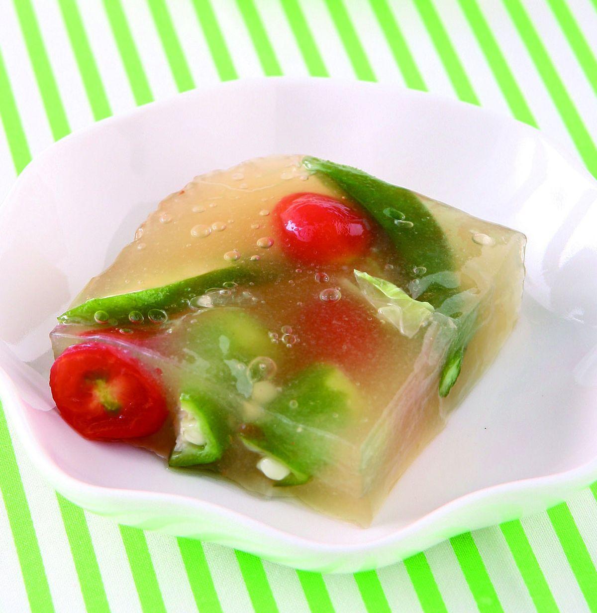 食譜:鮮蔬彩凍