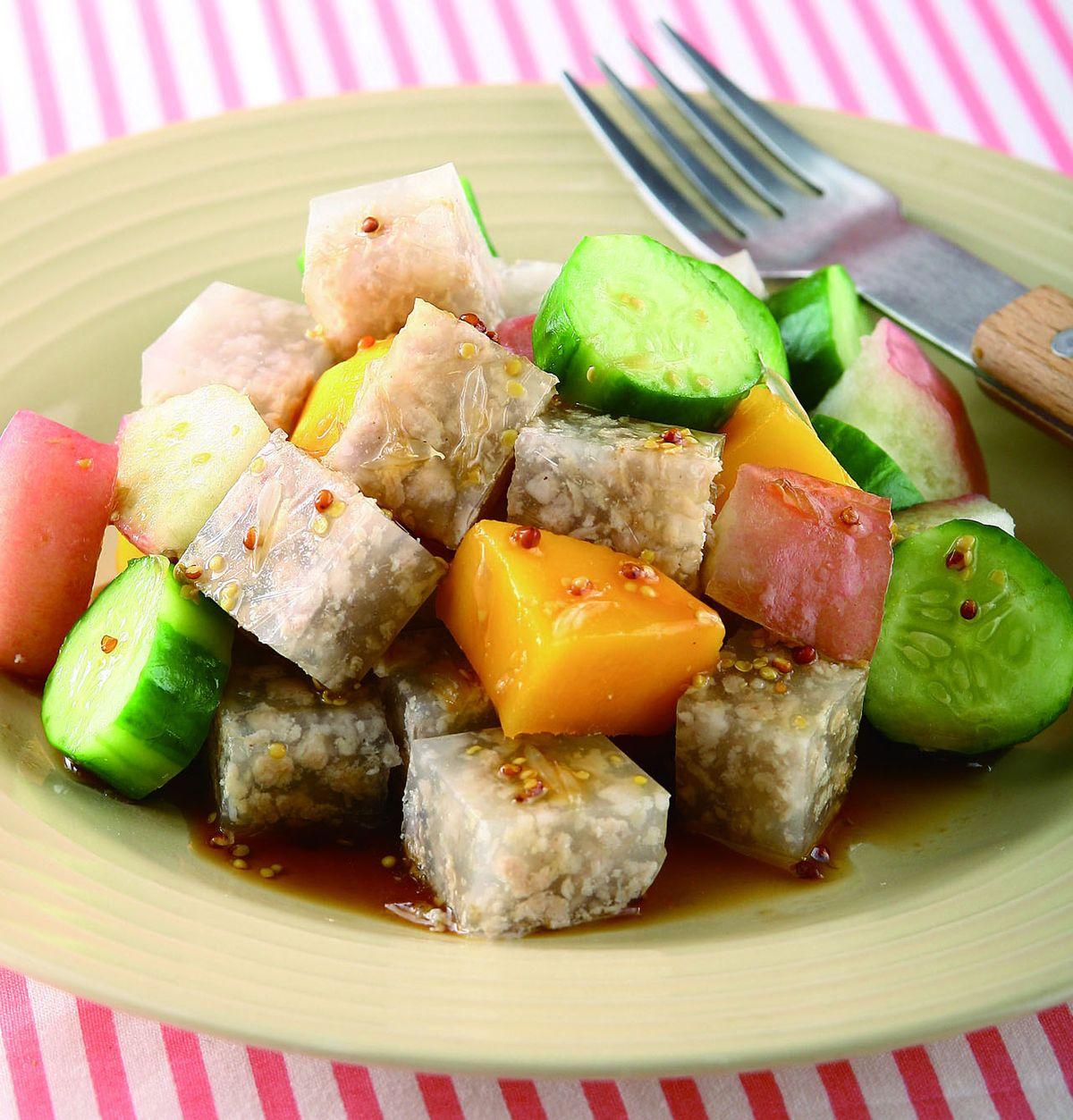食譜:肉末寒天凍沙拉