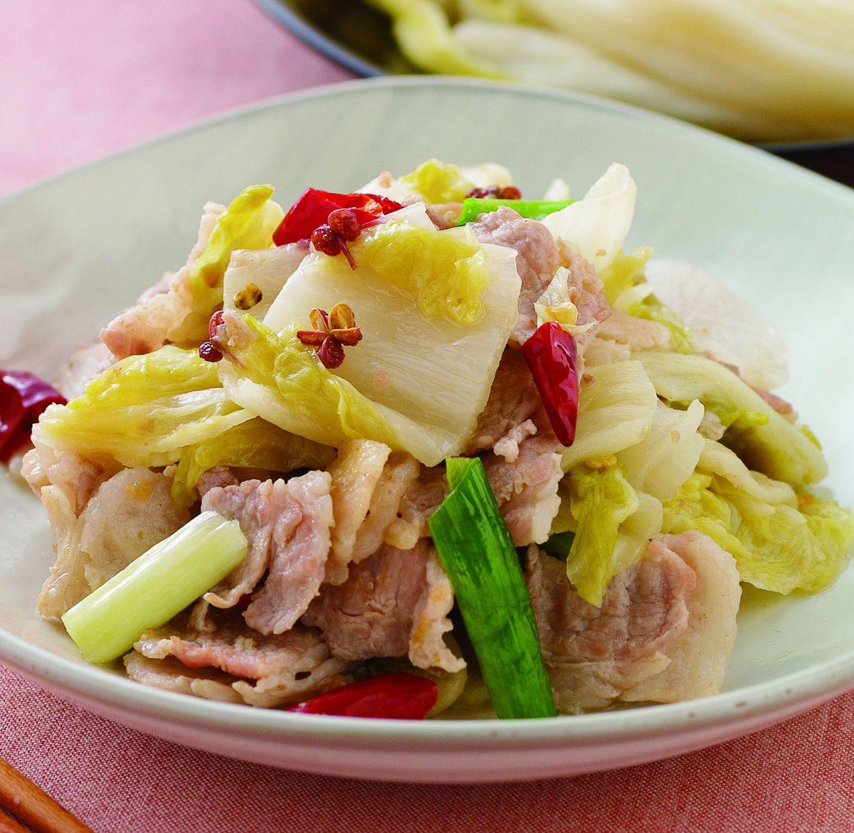 食譜:酸白菜肉片
