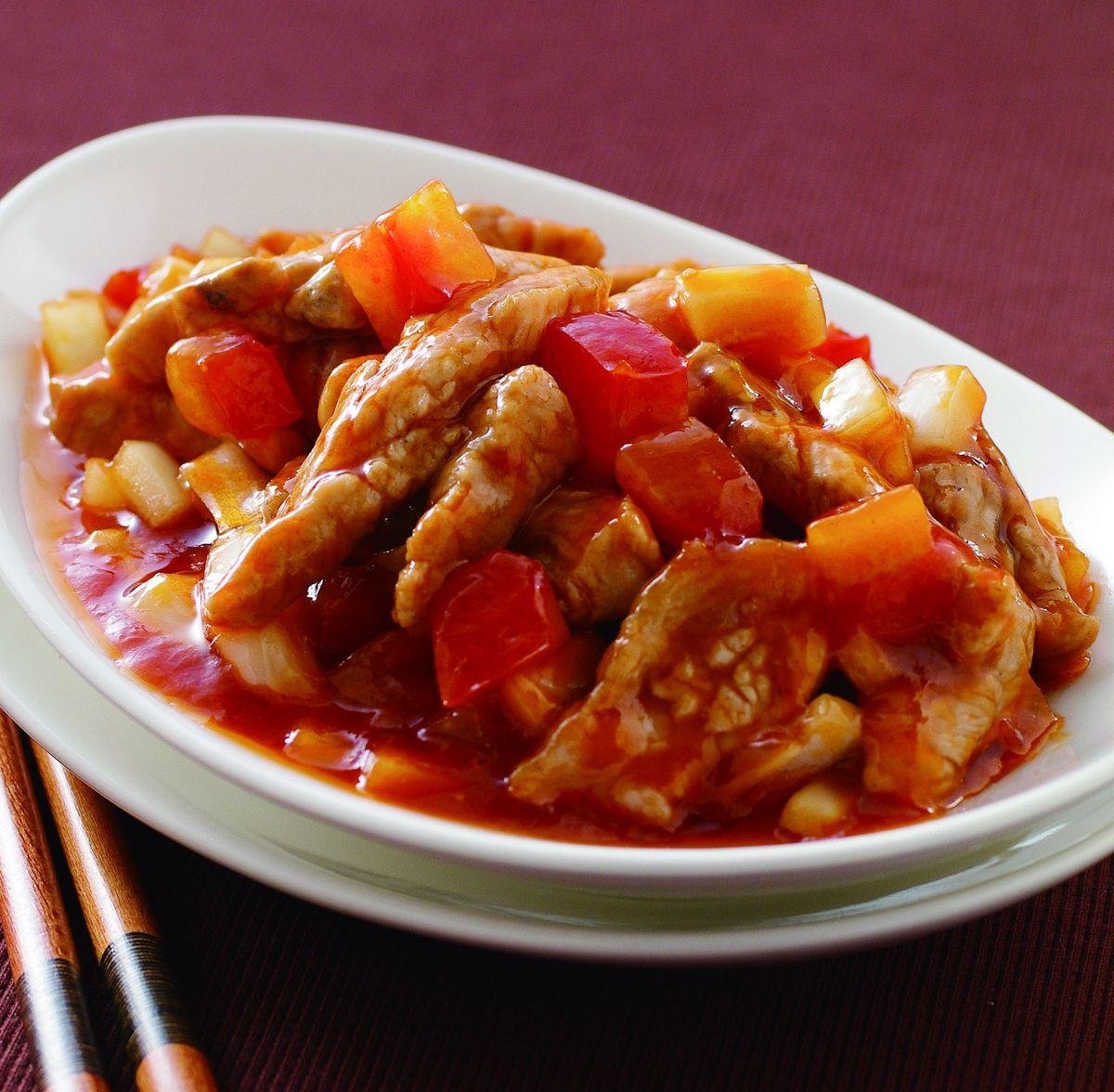 食譜:蕃茄豬柳