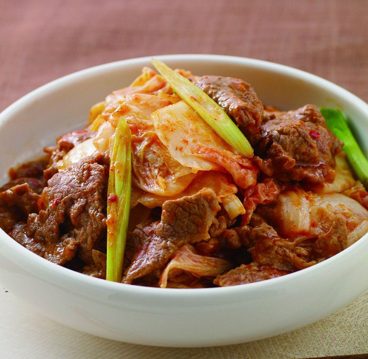 食譜:韓式泡菜炒牛肉(1)