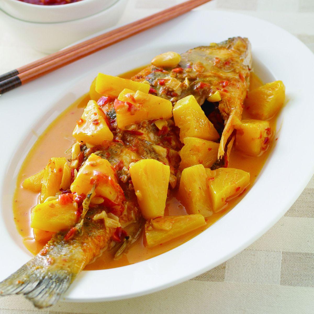 食譜:辣醬鳳梨魚