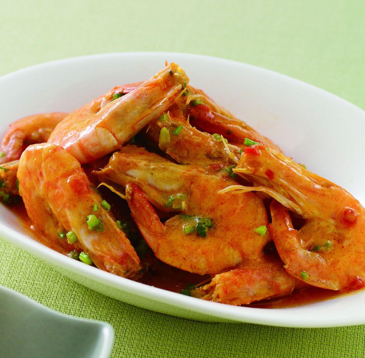 食譜:辣咖哩椰汁蝦