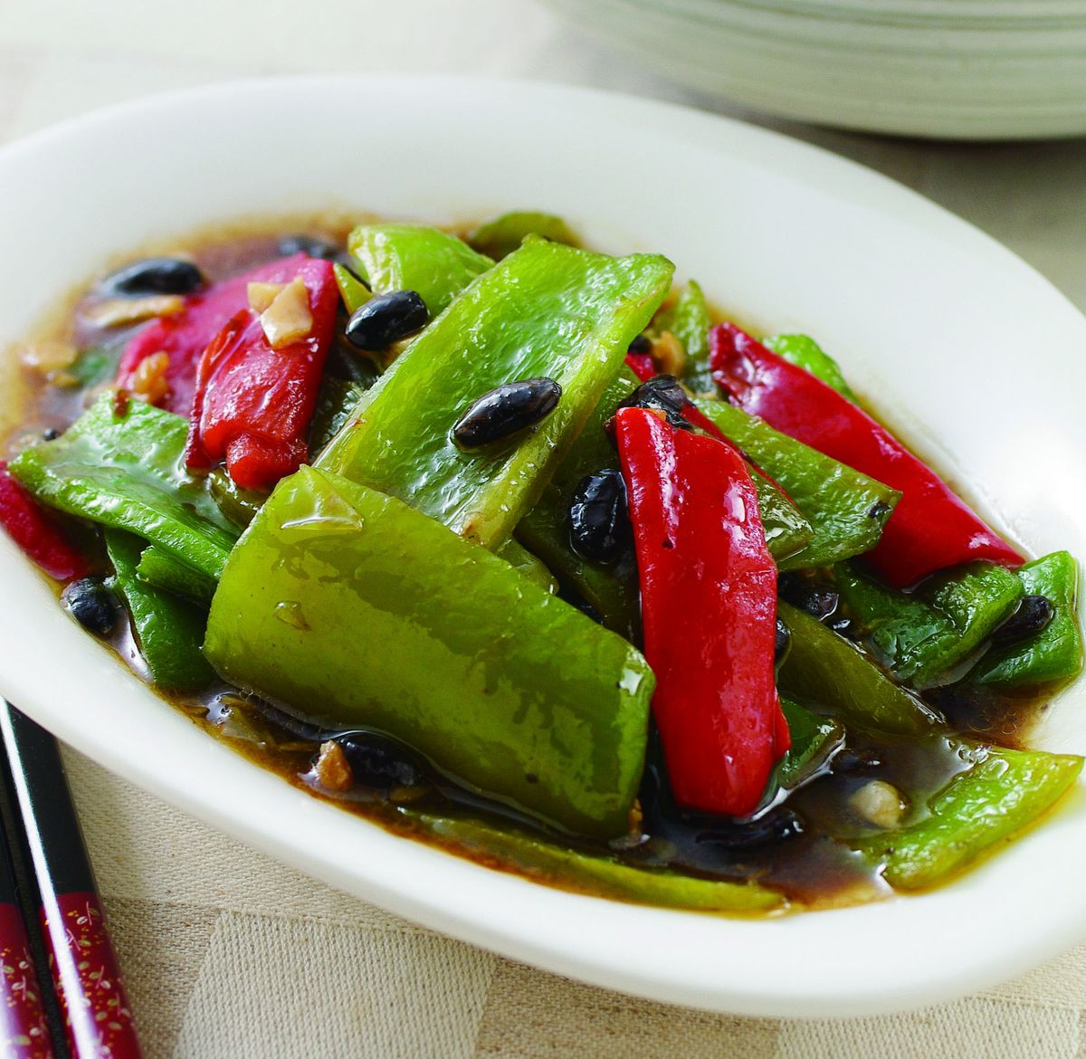 食譜:豆豉青紅椒