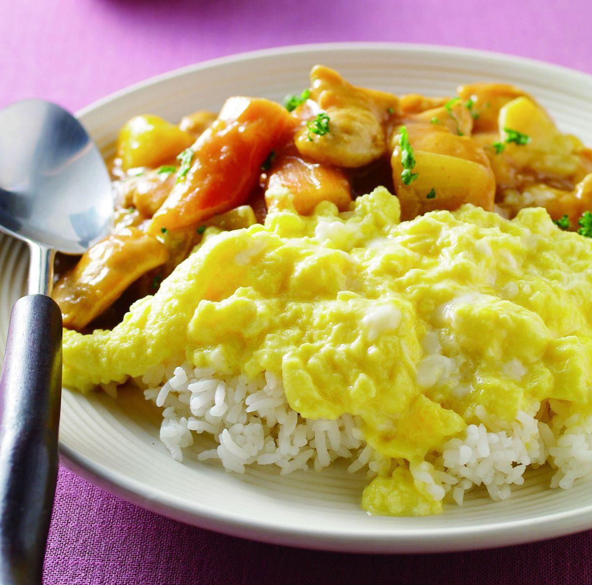 食譜:咖哩雞肉滑蛋飯