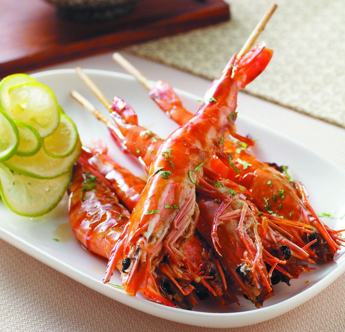 食譜:檸香烤鮮蝦