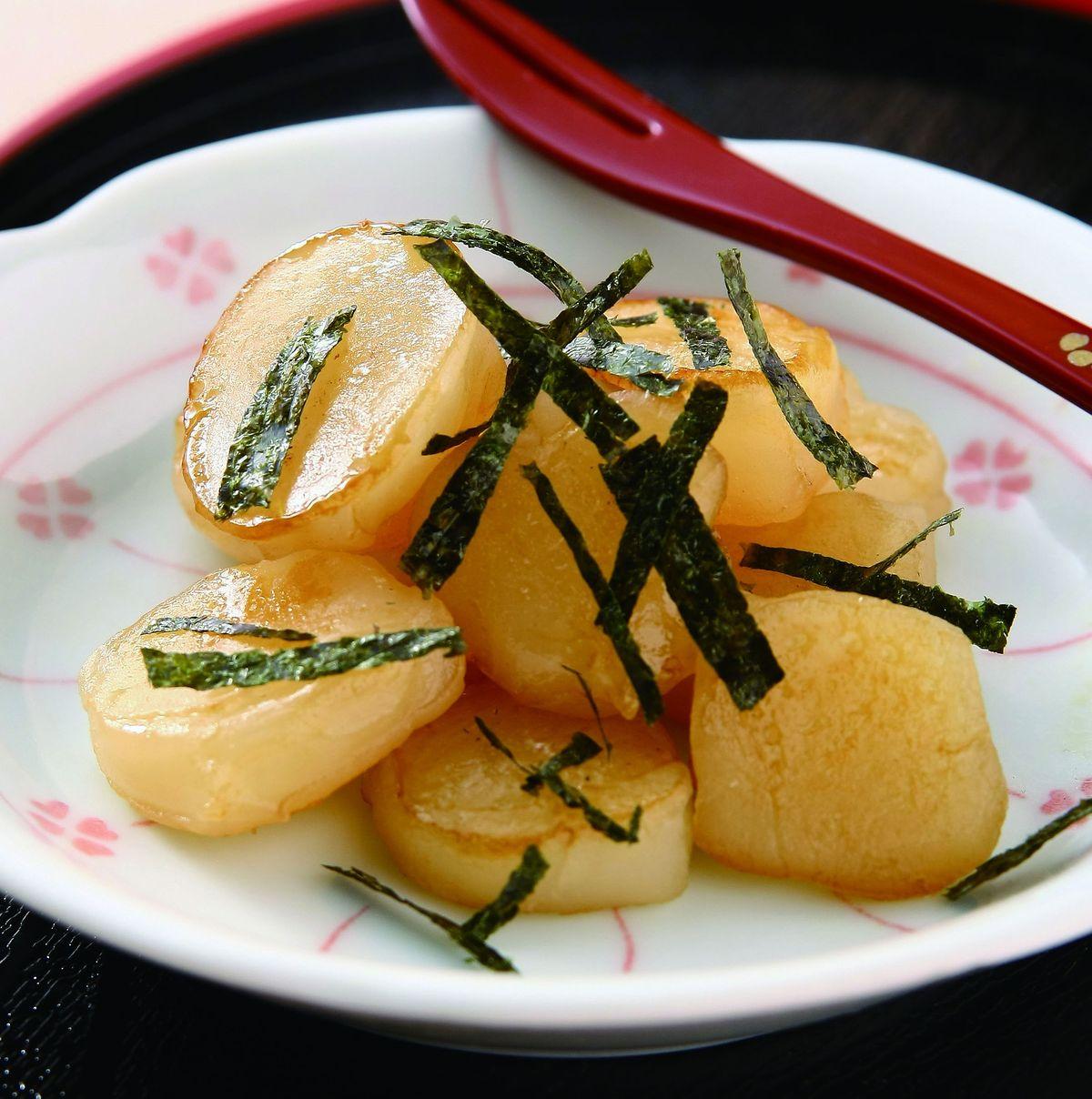 食譜:海苔醬油麻糬燒