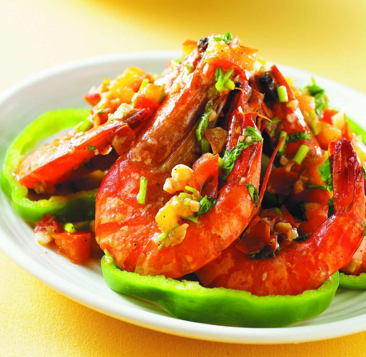 食譜:香茄蒜味鮮蝦