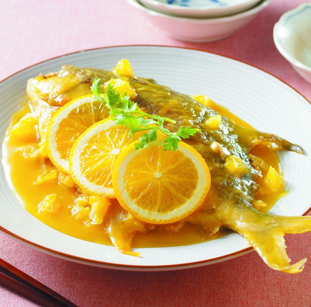食譜:橙汁鯧魚