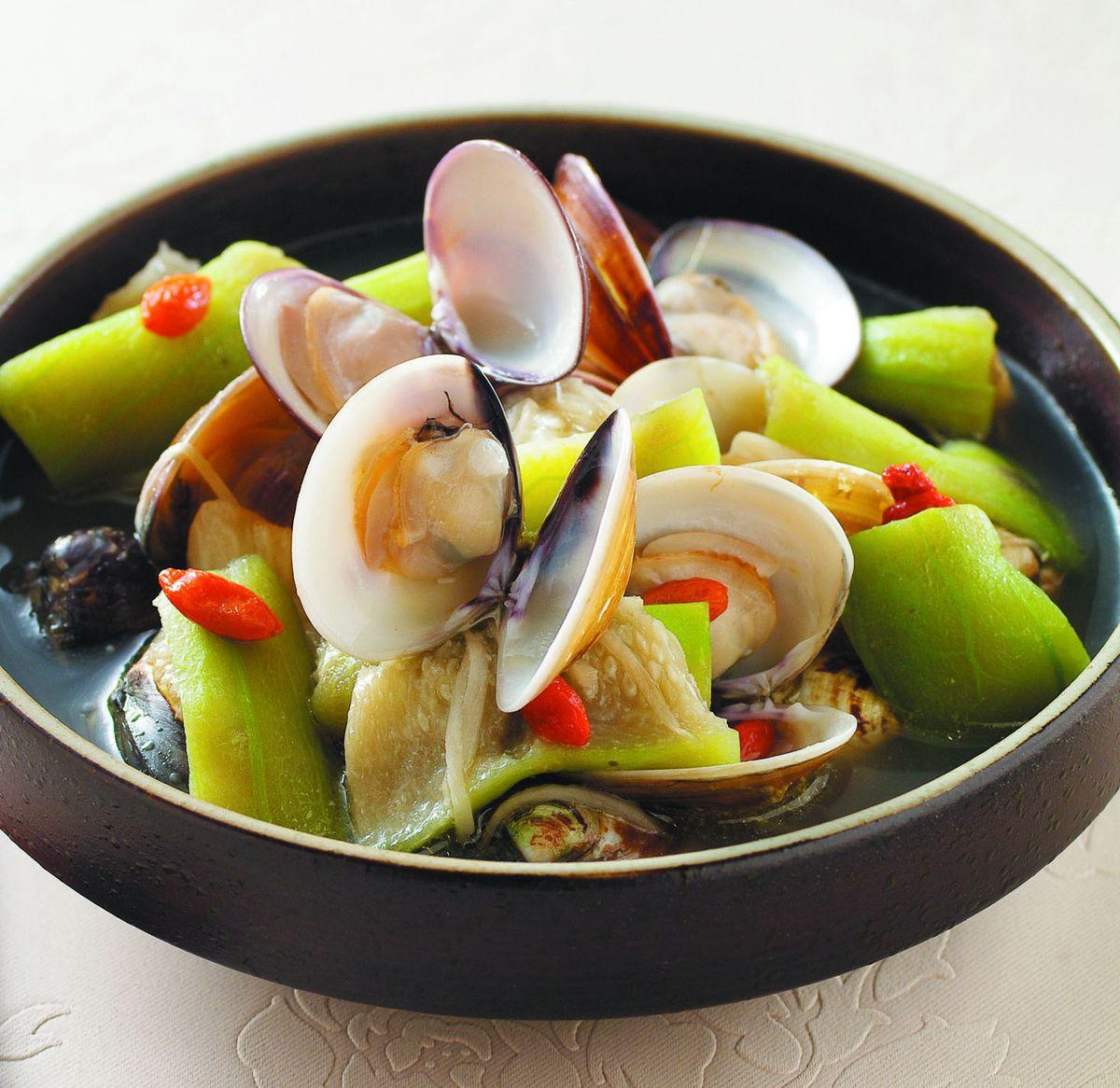 食譜:文蛤絲瓜